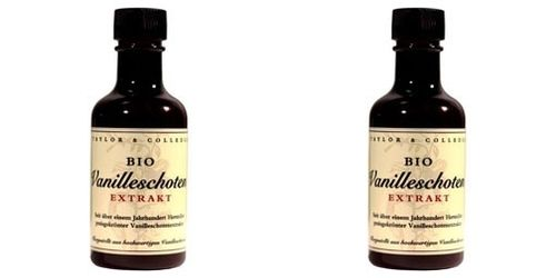 2x Bio Vanilleschoten Extrakt Taylor & Colledge je 100ml im Set